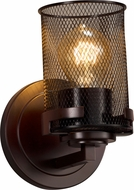 Justice Design MSH-8451-10-DBRZ Wire Mesh Atlas Contemporary Dark Bronze Wall Sconce Light