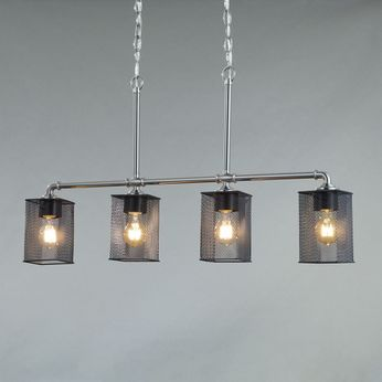 Justice Design MSH-8465 Wire Mesh Bronx Contemporary Kitchen Island Light Fixture