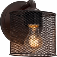 Justice Design MSH-8467-30 Wire Mesh Bronx Contemporary Lamp Sconce