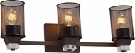 Justice Design MSH-8473 Wire Mesh Ardent Contemporary 3-Light Bathroom Light Sconce