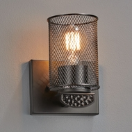 Justice Design MSH-8491 Wire Mesh Malleo Modern Wall Mounted Lamp