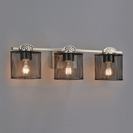 Justice Design MSH-8493 Wire Mesh Malleo Modern 3-Light Bathroom Wall Sconce