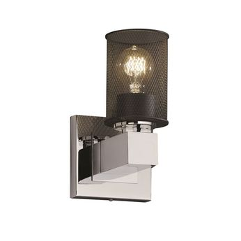 Justice Design MSH-8705 Wire Mesh Aero Modern Wall Sconce Lighting