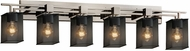 Justice Design MSH-8706 Wire Mesh Aero Contemporary Bathroom Lighting Sconce