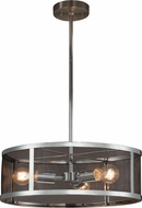 Justice Design MSH-9551-CROM Wire Mesh Wire Mesh Contemporary Polished Chrome 18  Drum Lighting Pendant