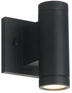 Justice Design NSH-4110W-MBLK No Shade Material Portico Modern Matte Black LED Exterior Wall Sconce Lighting