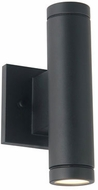 Justice Design NSH-4111W-MBLK No Shade Material Portico Contemporary Matte Black LED Exterior Lighting Wall Sconce