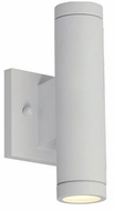 Justice Design NSH-4111W-WHTE No Shade Material Portico Contemporary Matte White LED Outdoor Wall Lighting Sconce