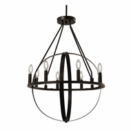 Justice Design NSH-4282-DBRZ No Shade Material Orbit Contemporary Dark Bronze LED Chandelier Lamp