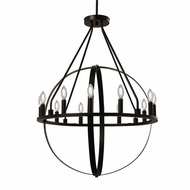 Justice Design NSH-4284-DBRZ No Shade Material Orbit Contemporary Dark Bronze LED Ceiling Chandelier