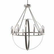 Justice Design NSH-4284-NCKL No Shade Material Orbit Contemporary Brushed Nickel LED Hanging Chandelier