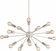 Justice Design NSH-8024 Axion Modern Hanging Chandelier