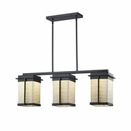 Justice Design PNA-7540W-WAVE Porcelina Pacific Contemporary LED Exterior Kitchen Island Lighting