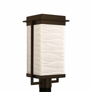 Justice Design PNA-7543W-WAVE Porcelina Pacific Modern LED Outdoor Lamp Post Light Fixture