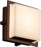 Justice Design PNA-7561W-SAWT-DBRZ Porcelina Avalon Contemporary Dark Bronze LED Outdoor Square Lighting Sconce