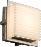 Justice Design PNA-7561W-SAWT-NCKL Porcelina Avalon Contemporary Brushed Nickel LED Outdoor Square Wall Sconce Lighting