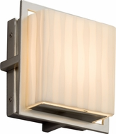 Justice Design PNA-7561W-WFAL-NCKL Porcelina Avalon Contemporary Brushed Nickel LED Outdoor Square Wall Light Sconce
