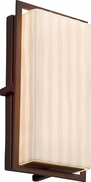 Justice Design PNA-7562W-WFAL-DBRZ Porcelina Avalon Contemporary Dark Bronze LED Outdoor Small Wall Sconce