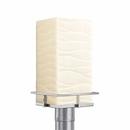 Justice Design PNA-7563W-WAVE Porcelina Avalon Modern LED Exterior Post Light Fixture