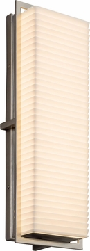 Justice Design PNA-7564W-SAWT-NCKL Porcelina Avalon Modern Brushed Nickel LED Exterior Large Lighting Sconce