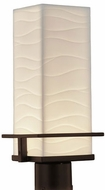 Justice Design PNA-7573W-WAVE Porcelina Avalon Contemporary LED Outdoor Pole Lighting Fixture