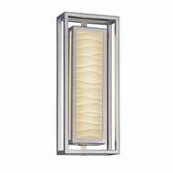 Justice Design PNA-7624W-WAVE Porcelina Bayview Contemporary LED Outdoor Wall Sconce