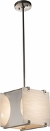 Justice Design PNA-8030 Porcelina Euclid Contemporary Mini Hanging Pendant Lighting