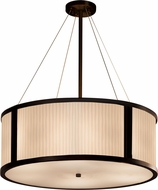Justice Design PNA-9544 Porcelina Tribeca Contemporary 36  Drum Hanging Pendant Light