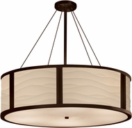 Justice Design PNA-9547 Porcelina Tribeca Modern 48  Drum Pendant Hanging Light