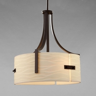 Justice Design PNA-9561-WAVE Porcelina Lira Contemporary Drum Hanging Light