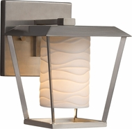 Justice Design POR-7551W-10 Limoges Patina Contemporary Exterior Small Wall Sconce Light