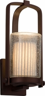 Justice Design POR-7581W-10 Limoges Atlantic Contemporary Exterior Small Wall Lamp