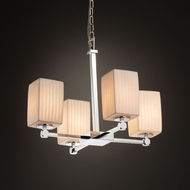 Justice Design POR-8420 Tetra Limoges Mini Ceiling Chandelier