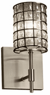 Justice Design WGL-8411 Wire Glass Union Modern Lighting Wall Sconce