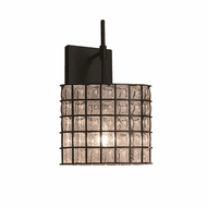 Justice Design WGL-8417 Wire Glass Union Contemporary Wall Lighting Sconce