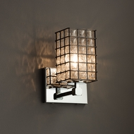 Justice Design WGL-8421 Tetra Wire Glass Modern Wall Lamp