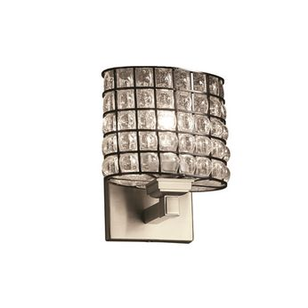 Justice Design WGL-8437-30 Wire Glass Regency Contemporary Wall Mounted Lamp