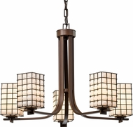 Justice Design WGL-8440 Wire Glass Era Contemporary Ceiling Chandelier