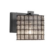 Justice Design WGL-8447-30 Wire Glass Era Modern Wall Light Sconce