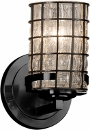 Justice Design WGL-8451-10 Wire Glass Atlas Contemporary Lamp Sconce