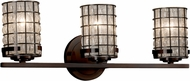 Justice Design WGL-8453-10 Wire Glass Atlas Contemporary 3-Light Bath Lighting Sconce