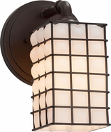 Justice Design WGL-8461 Wire Glass Bronx Modern Wall Light Fixture