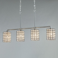 Justice Design WGL-8465 Wire Glass Bronx Modern LED Island Lighting