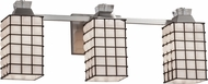 Justice Design WGL-8473 Wire Glass Ardent Contemporary 3-Light Vanity Light Fixture