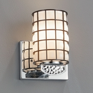 Justice Design WGL-8491 Wire Glass Malleo Contemporary LED Wall Sconce Light