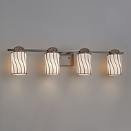 Justice Design WGL-8494 Wire Glass Malleo Contemporary LED 4-Light Bath Lighting Sconce