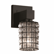 Justice Design WGL-8705 Wire Glass Aero Modern Wall Sconce Light