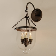 JVI Designs 1092 3 Candle Transitional Style Wall Light Sconce