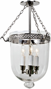 JVI Designs 1150-15 Kensington Polished Nickel Foyer Lighting Fixture