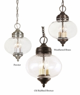 JVI Designs 1175 14 Inch Tall Retro Style Pendant Hanging Lamp